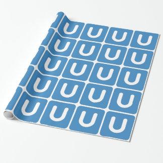Emoji Twitter - Letter U Inpakpapier