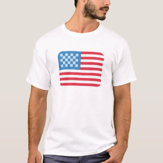Emoji Twitter USA Flag T Shirt