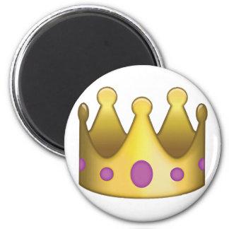 Emoji van de kroon ronde magneet 5,7 cm