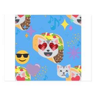 emoji van de tacokat briefkaart