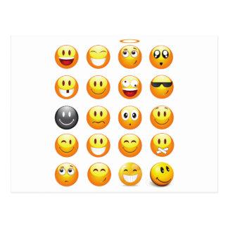 emojis briefkaart