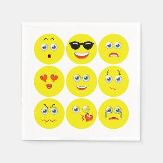 Emojis Wegwerp Servetten