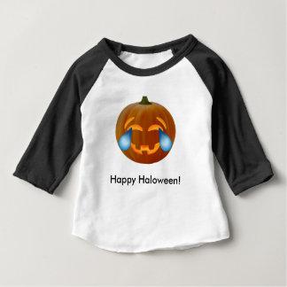 Emojischeuren van de pompoen van vreugdeBaby 3/4 Baby T Shirts