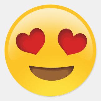 emojistickers van hartogen ronde sticker