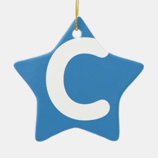 EmojiTjilpen van de brief C Keramisch Ster Ornament