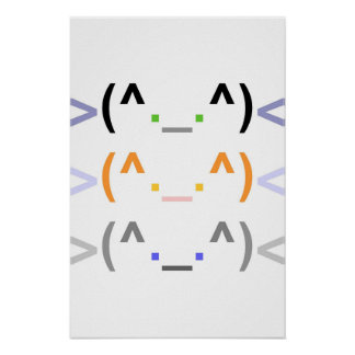"""Emoticon"" 3 LEUKE KATTEN! - Poster - Verticaal"