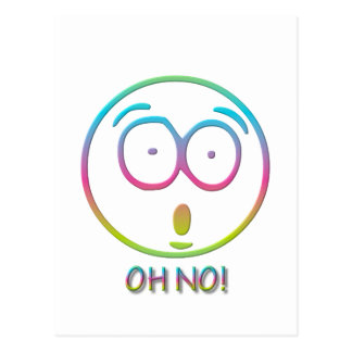 """Emoticon """"Oh nr! """" Briefkaart"""