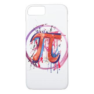 Emotioneel Pi, het Schilderen van de Actie Art. iPhone 7 Hoesje