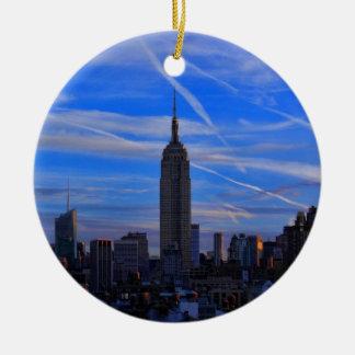 Empire State Building, Horizon NYC en StraalSlepen Rond Keramisch Ornament