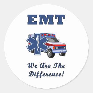 EMT wij zijn het Verschil Ronde Sticker