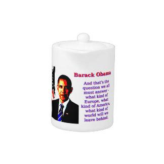 En dat is de Vraag - Barack Obama