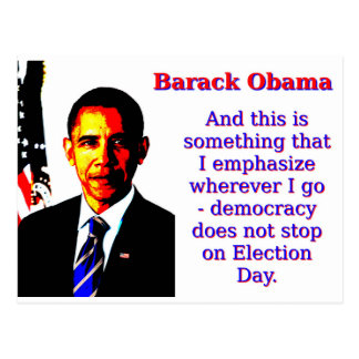 En dit is iets die ik - Barack Ob benadruk Briefkaart