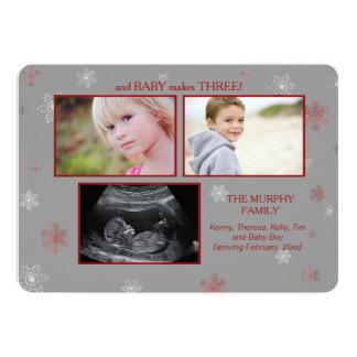 En het Baby maakt de Zwangerschap Announcemen van 12,7x17,8 Uitnodiging Kaart