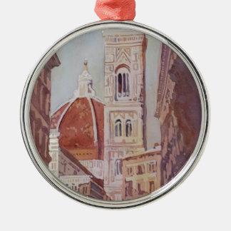 En plotseling, Duomo Zilverkleurig Rond Ornament