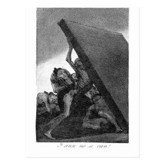 En zij zullen nog niet door Francisco Goya gaan Briefkaart