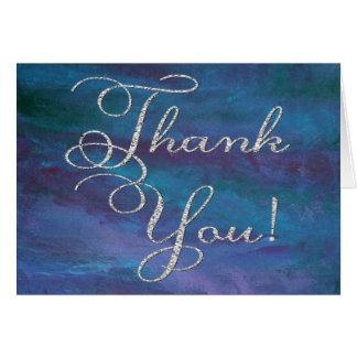 Energiek dank u de Moderne Donkerblauwe Paarse Kaart