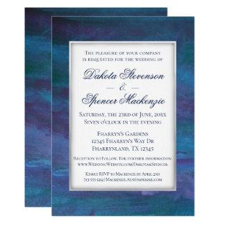Energiek Huwelijk | Moderne Donkerblauwe Paarse Kaart