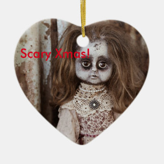 Eng Doll van Kerstmis Keramisch Hart Ornament