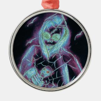 Eng Skelet Zilverkleurig Rond Ornament