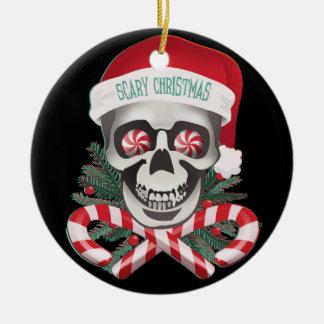 Enge Kerstmis Rond Keramisch Ornament