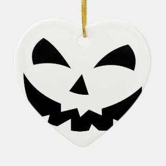 Enge Pompoen Keramisch Hart Ornament