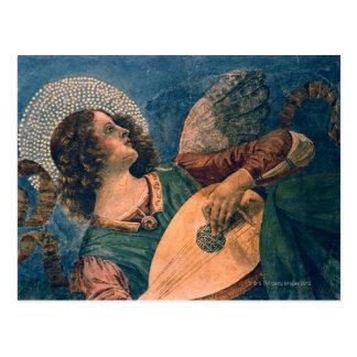 Engel als musicus door Melozzo DA dat Forli wordt Briefkaart