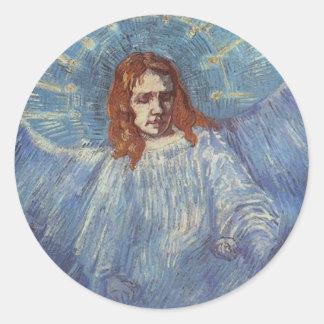 Engel door Vincent van Gogh Ronde Sticker