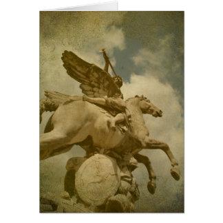 Engel en het Standbeeld van het Paard Kaart