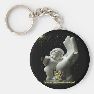 Engel in de handen van God keychain Sleutelhanger