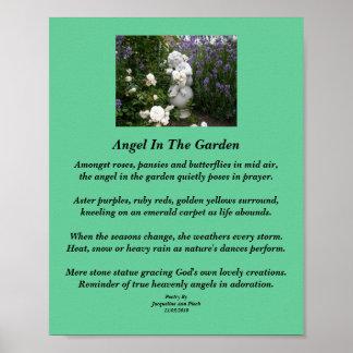 Engel in het Poster van de Poëzie van de Tuin