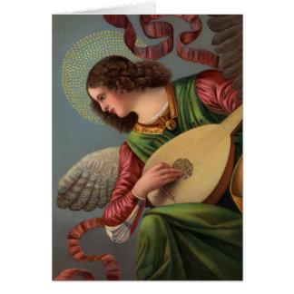 Engel met een Luit Kaart