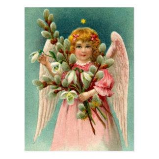 Engel met Mooie Roze Kleding Briefkaart