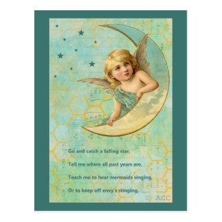 Engel op Toenemende Maan Briefkaart