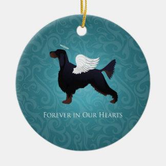 Engel van de Hond van het Huisdier van de Zetter Rond Keramisch Ornament