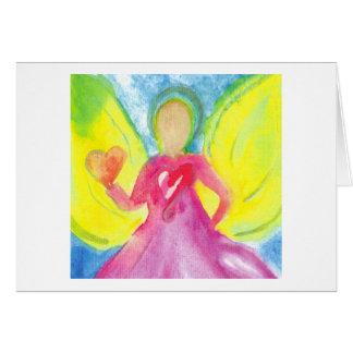 Engel van de Kaart van de Nota van de Dankbaarheid