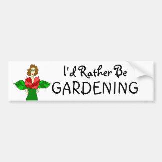 """Engel van de tuin """"ik zou eerder """" tuinieren bumpersticker"""