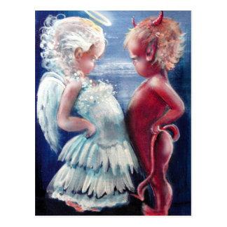Engel VERSUS het Briefkaart van de Duivel
