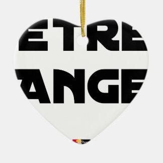 ENGEL ZIJN - Woordspelingen - François Stad Keramisch Hart Ornament
