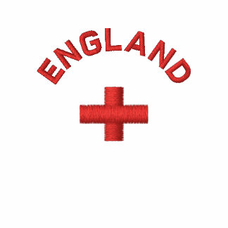 Engeland - Engelse rood kruisvlag Geborduurd Poloshirt