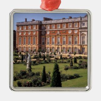 Engeland, Surrey, Palace. van het Hampton Court Zilverkleurig Vierkant Ornament