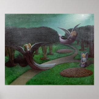 Engelen in de Nacht, 1896 Poster