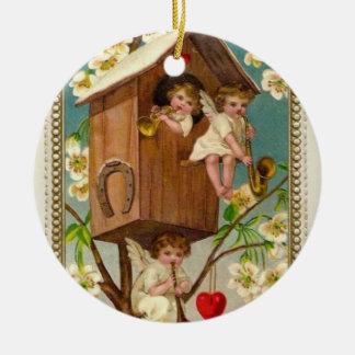 Engelen Rond Keramisch Ornament