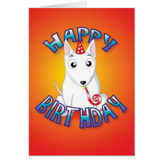 Engels bull terrier - hat&whistle - gelukkige briefkaarten 0