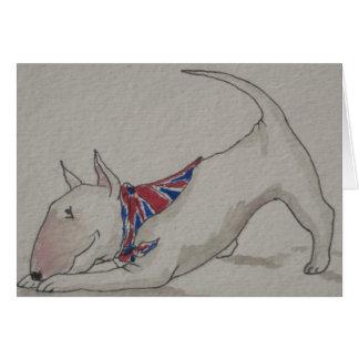 Engels Bull terrier - Welkom Huis Wenskaart