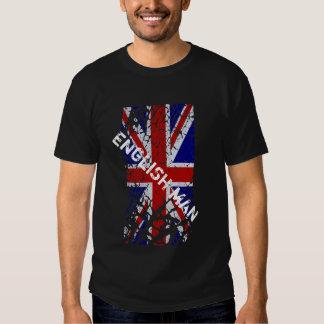 Engels Man + De vintage Vlag van Union Jack