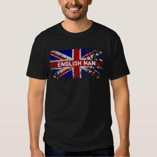 Engels Man + De Vlag van Union Jack van de Verf
