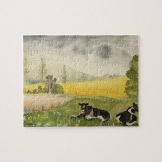 Engels Platteland met Koeien Puzzel
