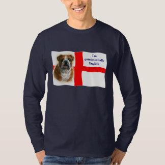 Engels vlag en buldogOverhemd T Shirt