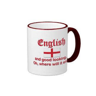 Engelse en Knappe… Mok Gekleurder Rand En Oor