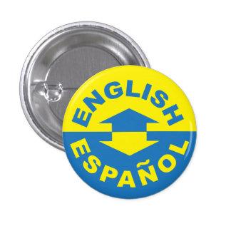 Engelse Español - ik spreek het Spaans Ronde Button 3,2 Cm